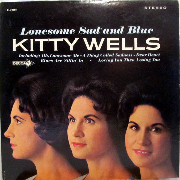 Kitty Wells ‎– Lonesome Sad And Blue - 1965-  Folk, World, & Country (vinyl)