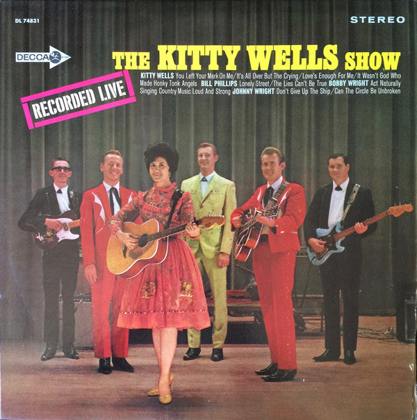 Kitty Wells ‎– The Kitty Wells Show -1967- Folk, World, & Country (vinyl)