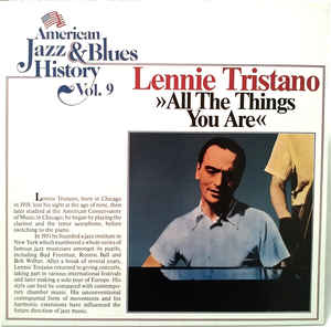 LENNIE TRISTANO - ALL THE THINGS YOU ARE  (TOBACCO ROAD, GERMANY) Jazz- (Import Vinyl)