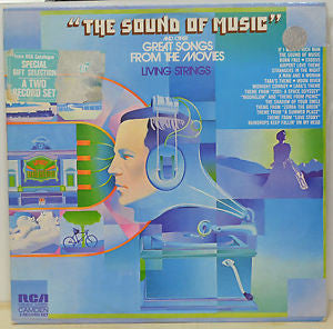 Living Strings ‎– The Sound Of Music And Other Great Songs From The Movies (2 lps)- 1972 Stage and Screen