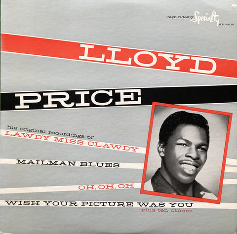 Lloyd Price ‎– Lloyd Price - 1959-Rock, Blues, Rhythm & Blues, Rock & Roll (Rare Vinyl)