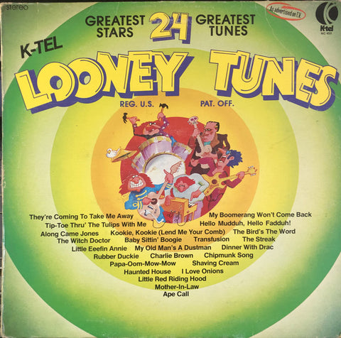 Looney Tunes - 1976-Rock, Funk / Soul, Pop, Children's Style: Novelty, Parody (vinyl)  light marks