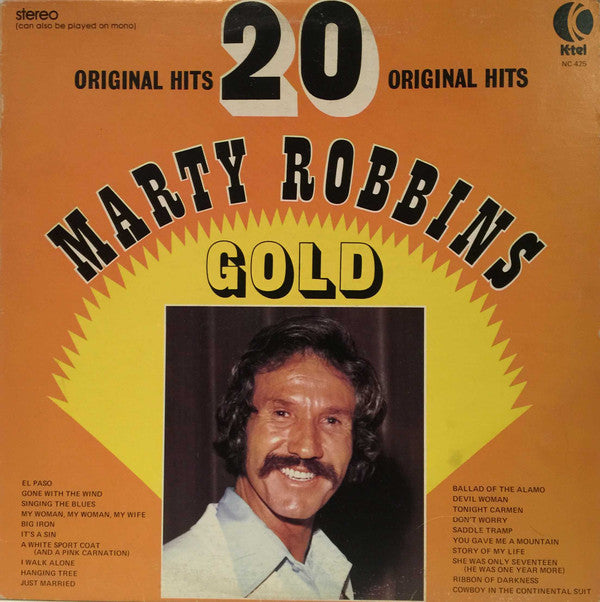 Marty Robbins ‎– Gold - 20 Original Hits - Country, Folk (vinyl)