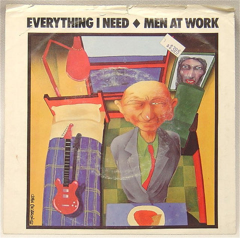 "Men At Work - Everything I Need - 1985-Synth-pop - 12"" Single Lp (vinyl)"