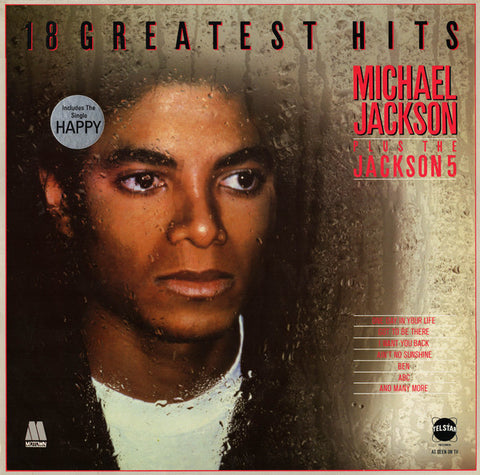Michael Jackson Plus The Jackson 5 ‎– 18 Greatest Hits -  Funk /Soul, Disco - UK Import Vinyl
