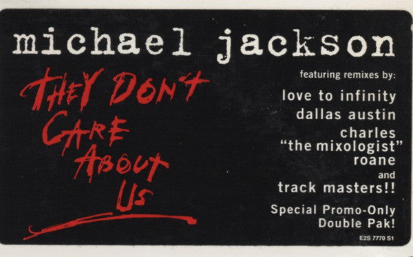 "Michael Jackson ‎– They Don't Care About Us - 2lps - 1995-RnB/Swing, House, Garage House ( 2 × Vinyl, 12"", Promo )"