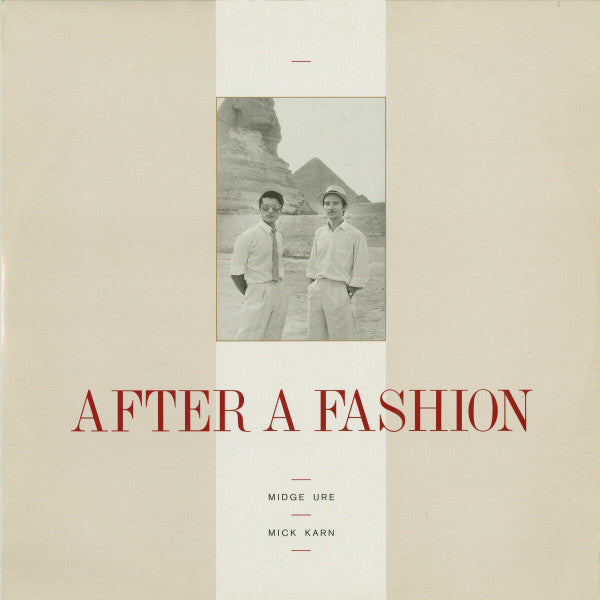 "Midge Ure & Mick Karn ‎– After A Fashion -1983-  New Wave, Synth-pop- Vinyl, 12"", Single, 45 RPM (UK)"