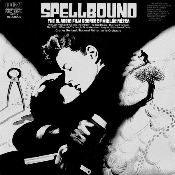 Miklós Rózsa ‎– Spellbound - The Classic Film Scores Of Miklós Rózsa- 1975-Stage & Screen (vinyl)