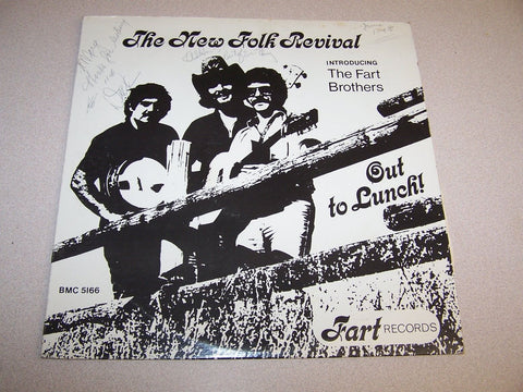 NEW FOLK REVIVAL,THE - Out To Lunch ! LP Private Folk FART RECORDS
