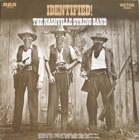 Nashville String Band , The ‎– Identified! - 1971 Folk ( Vinyl) Chet Atkins / Homer & Jethro