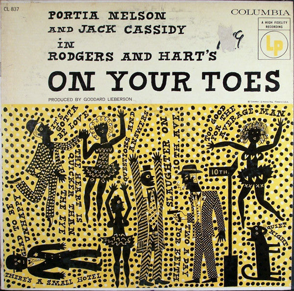 Portia Nelson, Jack Cassidy In Rodgers & Hart's* ‎– On Your Toes -1956 Big band Soundtrack