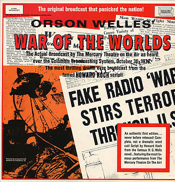 Orson Welles ‎– War Of The Worlds - 1968 Radioplay (vinyl)