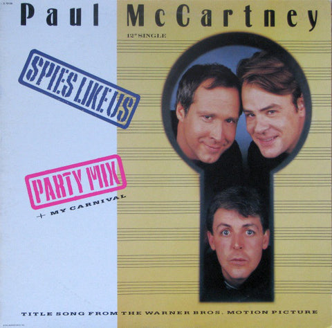 Paul McCartney ‎– Spies Like Us - 1985-Electronic, Rock Style: Pop Rock, Synth-pop (vinyl)