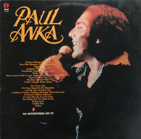 Paul Anka ‎– Paul Anka - Vocal, Easy Listening (vinyl)