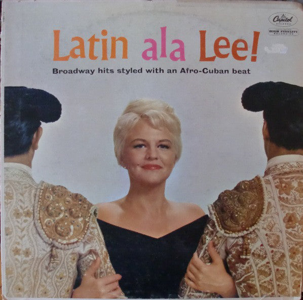 Peggy Lee With Jack Marshall's Music ‎– Latin Ala Lee! -1960 Afro-Cuban (vinyl)