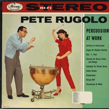 Pete Rugolo ‎– Percussion At Work -1958 - Space Age Jazz (Rare Vinyl)