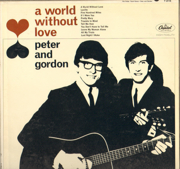 Peter And Gordon ‎– A World Without Love -1964 - Pop Rock