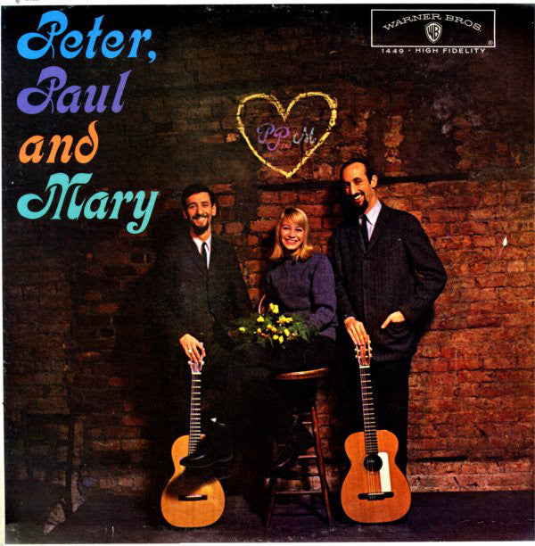 Peter, Paul And Mary ‎– Peter, Paul And Mary -1962 Folk (vinyl) Clearance