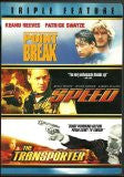 Point Break, Speed and the Transporter Triple Feature Dvd - Mint Used