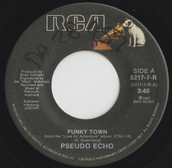 "Pseudo Echo ‎– Funky Town -1987- Synth-pop, Disco -  Vinyl, 7"", 45 RPM, Single"
