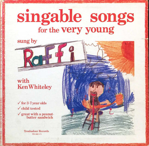 Raffi  Singable Songs For The Very Young -1976 Children's (vinyl)