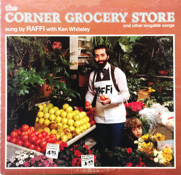 Raffi - With Ken Whiteley ‎– The Corner Grocery Store - 1979- Children's, Folk, World, & Country (vinyl)