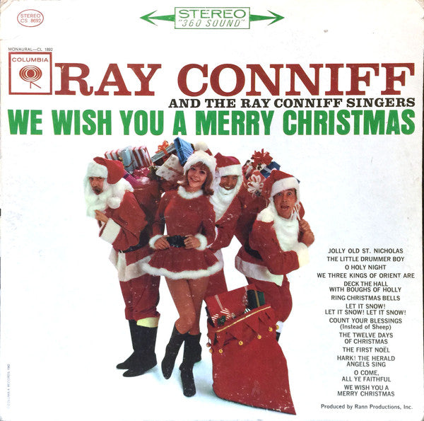 Ray Conniff And The Ray Conniff Singers ‎– We Wish You A Merry Christmas - 1962-Jazz, Pop (vinyl)