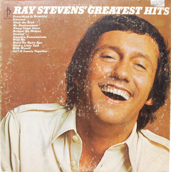 Ray Stevens ‎– Ray Stevens' Greatest Hits - 1971- Soft Rock, Novelty (vinyl)