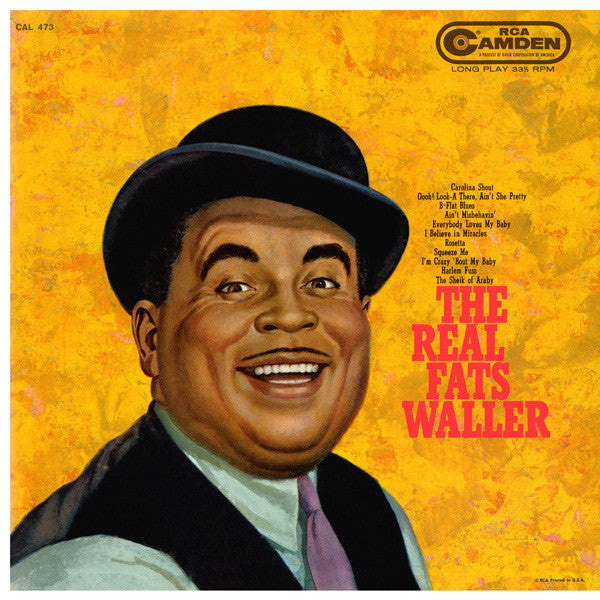 Fats Waller ‎– The Real Fats Waller - 1959- Ragtime Jazz (vinyl)