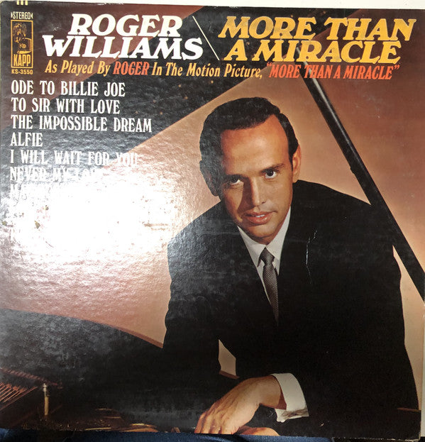 Roger Williams ‎– More Than A Miracle-1968 Easy Listening Jazz (Vinyl)