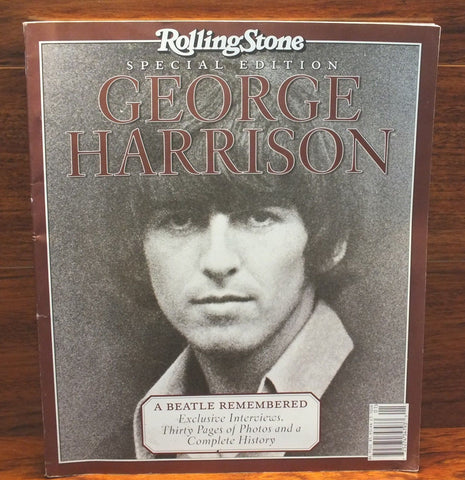 "Rolling Stone Special Edition George Harrison ""A Beatle Remembered"" Magazine! 201 ( slight marks)"