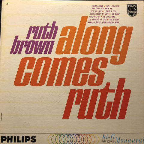 Ruth Brown ‎– Along Comes Ruth - 1962- Rock, Pop , Rhythm & Blues, Rock & Roll (Very Rare Vinyl) Near Mint