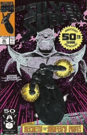 SILVER SURFER #50 - Embossed silver foil cover