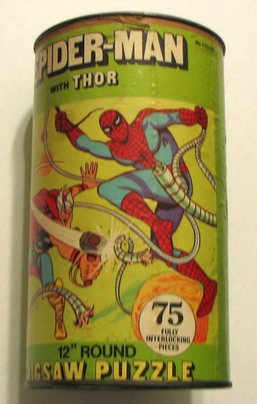 "SPIDER-MAN & MIGHTY THOR 12"" JIGSAW PUZZLE 75 Pc RARE MIB Marvel 1974"