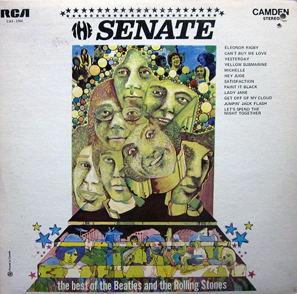 Senate ,the – The Best Of The Beatles And The Rolling Stones- 1969 Beat,  Mod,( clearance vinyl) NO COVER