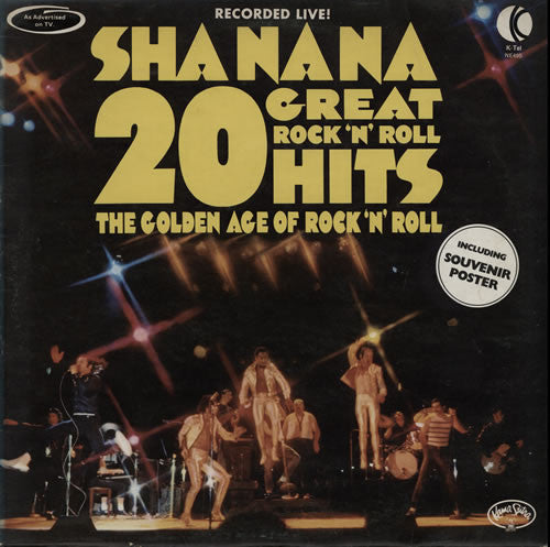 Sha Na Na ‎– 20 Great Rock 'N' Roll Hits- 1973 ( Clearance Vinyl )