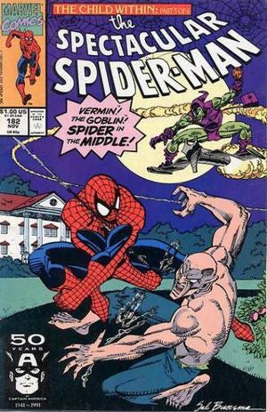 Spectacular Spider-Man ,the #182 : Reckonings (The Child Within - Marvel Comics)