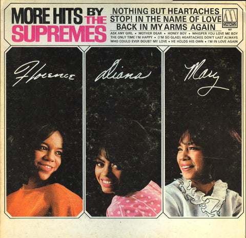 Supremes ‎– More Hits By The Supremes - 1965-Funk / Soul (rare vinyl)