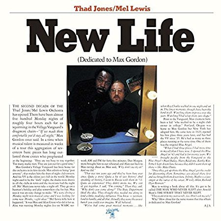 Thad Jones / Mel Lewis ‎– New Life (Dedicated To Max Gordon) -1976- Jazz (vinyl)