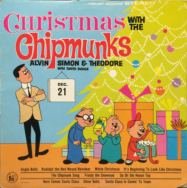 The Chipmunks ‎– Christmas With The Chipmunks -1980-  Pop, Children's ,Christmas (vinyl) mint copy