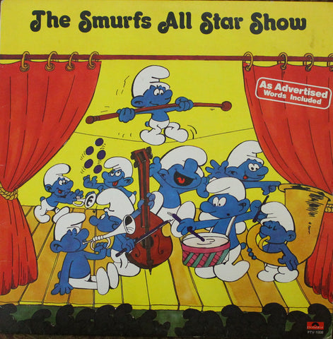 The Smurfs ‎– The Smurfs All Star Show -1981-Pop, Children's Style: Novelty ( clearance Viny l)