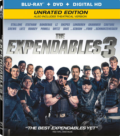 The Expendables 3 -Blu-ray + DVD + Digital Copy] New Sealed