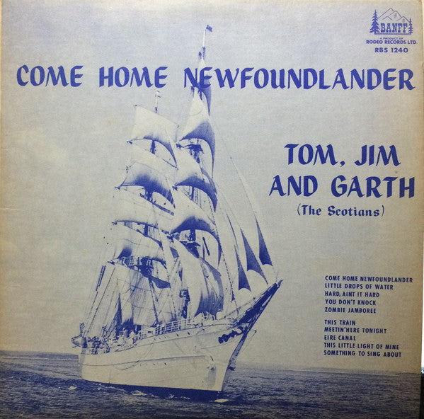 Tom, Jim And Garth ‎– Come Home Newfoundlander -196? -Folk, World, & Country,Maritime (Rare Vinyl)