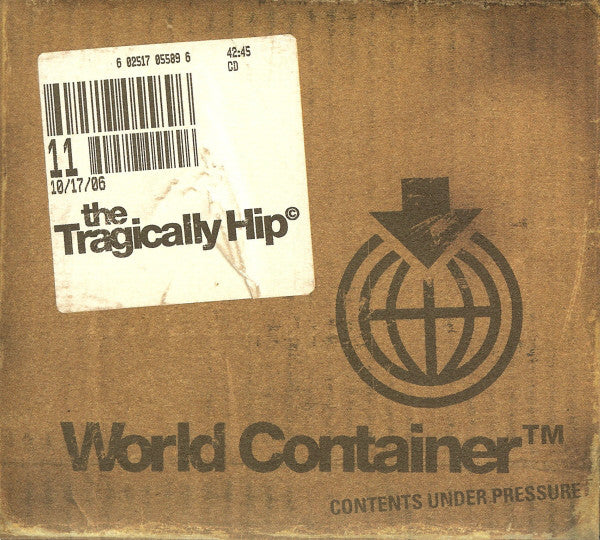 Tragically Hip ‎– World Container -2006 Music CD