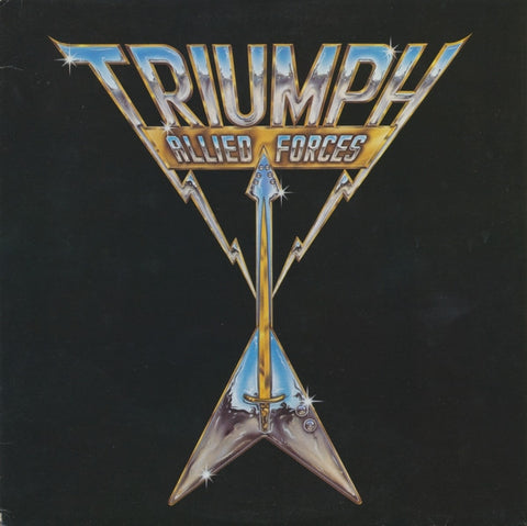 Triumph  ‎– Allied Forces - 1981 Hard Rock ( Clearance Vinyl ) marks on side # 2