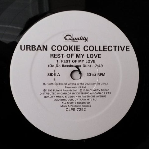 "Urban Cookie Collective ‎– Rest Of My Love / Spend The Day - 1996 - Electronic House (Vinyl, 12"", 33 ⅓ RPM )"