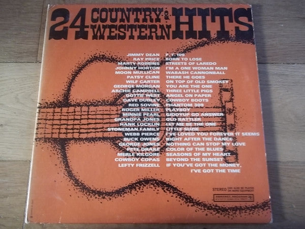 Various ‎– 24 Country & Western Hits -Folk , Country (vinyl)