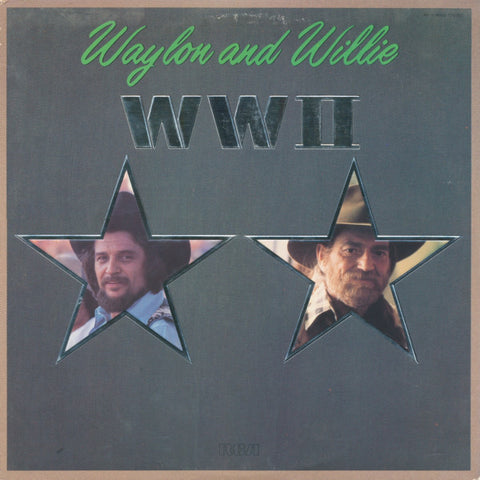 Waylon And Willie‎– WWII - 1982- Folk, World, & Country Style: Country (vinyl)