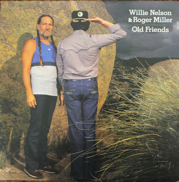 Willie Nelson & Roger Miller ‎– Old Friends - 1982-Folk, World, & Country , Country (vinyl)