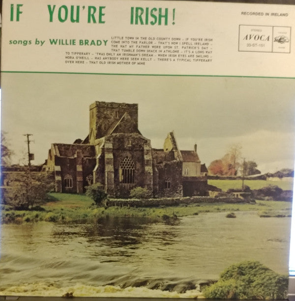 Willie Brady ‎– If You're Irish! Songs by - Folk, World, & Country (vinyl)